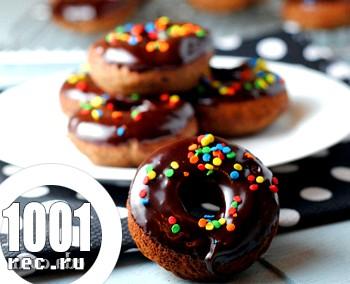 Американські пончики з шоколадною глазур'ю