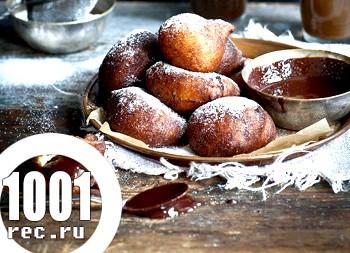 Апельсинові пончики з шоколадом