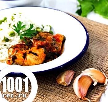 Азіатська курятина зі шпинатом