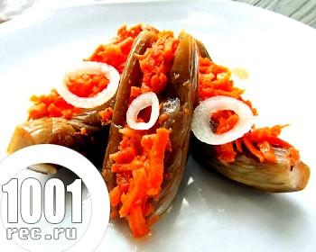 Баклажани на зиму з морквою
