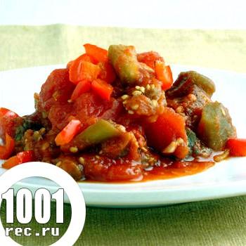Баклажани в томатному соусі з часником на зиму