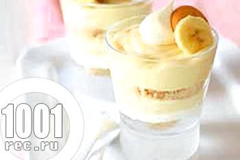 Банановий десерт з ванільним пудингом