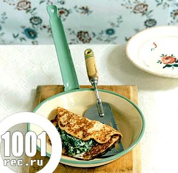 Млинці з сиром та шпинатом