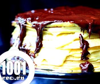 Бостонський млинцевий торт з ганашем