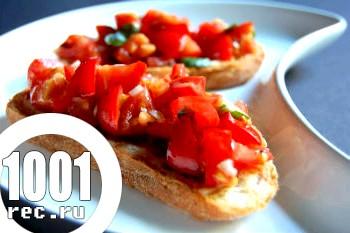 Брускетта з помідорами до шашлику