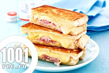Бутерброди з шинки з сиром