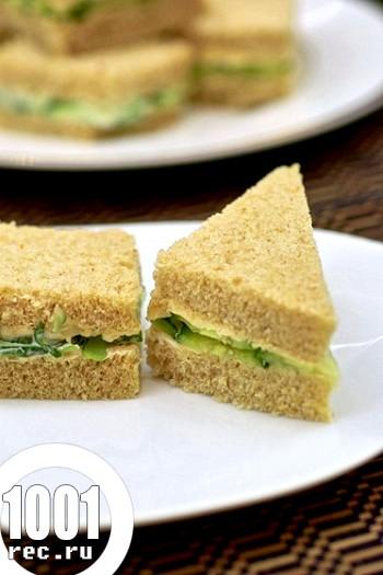 Бутерброди сендвічі з огірками по-англійськи