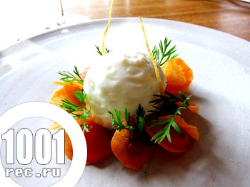 Фото - морква з морозивом