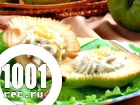Швидкий десерт Повітряний із сиром і фруктами