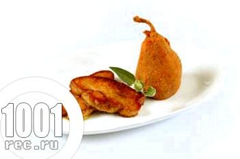 Швидкий обід з курки з грушами