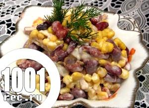 Швидкий салат із квасолі та кукурудзи