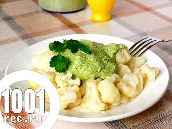 Дієтичний рецепт цвітної капусти з часником