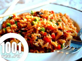 Джамбалайя з овочів і рису