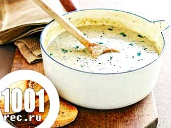 Французький вершковий суп-пюре з вином