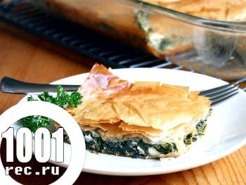 Грецький пиріг зі шпинатом