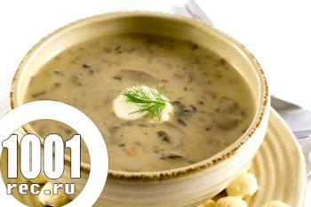 Грибний суп з опеньків з вівсяними пластівцями