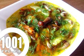 Грибний суп з опеньків