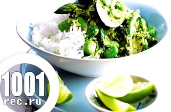 Холодна закуска Зелене тайське каррі