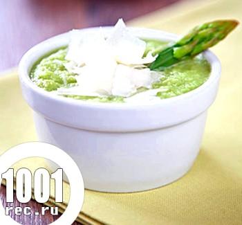 Холодний суп гаспачо зі спаржею