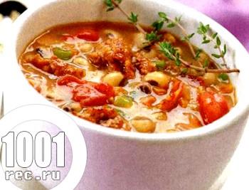 Італійський овочевий суп з вермішеллю
