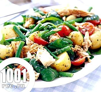 Італійський салат з молодої картоплі