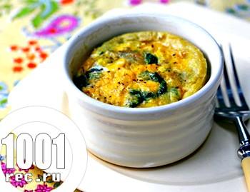 Яйця зі шпинатом в кремовому соусі