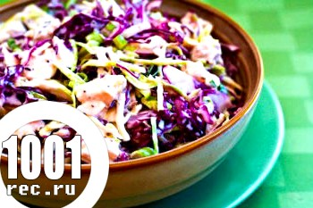 Капустяний салат з куркою
