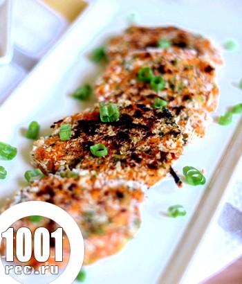 Картопляні котлети зі смаженою цибулею