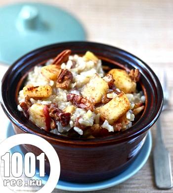 Каша рисова з гарбузом і яблуками