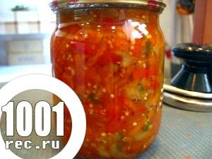 Консервування на зиму: огірковий салат