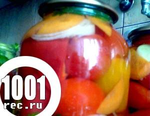 Консервування помідорів асорті