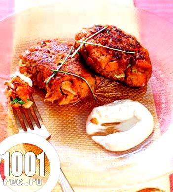 Котлетки з лосося з імбирним соусом