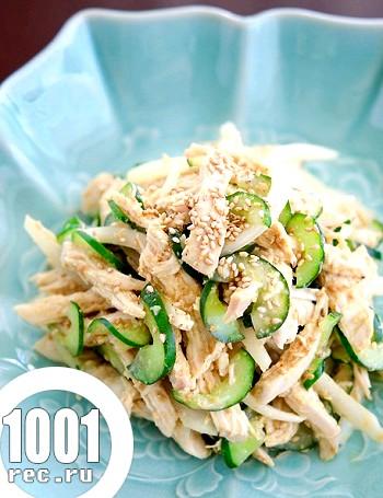Курячий салат по-корейськи