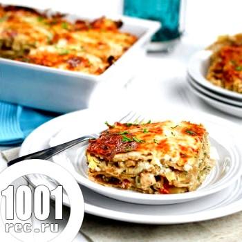 Лазанья з куркою і овочами