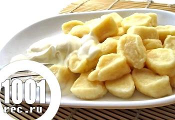 Ліниві вареники з картоплею