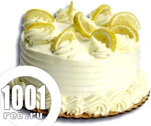 Лимонний торт з шампанським