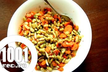 Лобіо-салат з морквою