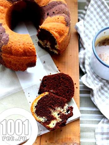 Мармуровий шоколадно-ванільний кекс