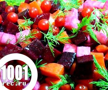 Овочевий салат з калиною