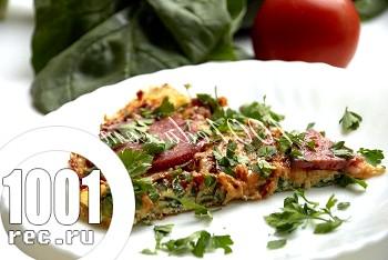 Піца-омлет зі шпинатом: рецепт з покроковим фото