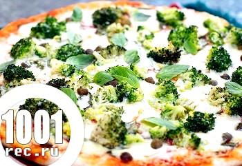 Піца з брокколі на кефірному тесті