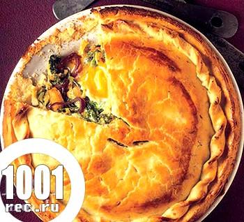 Пиріг з савойської капустою, картоплею і перцем чилі