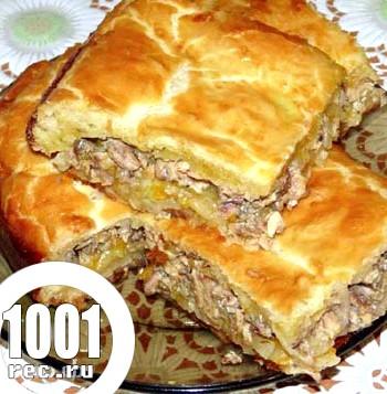 Пиріг зі щукою і капустою