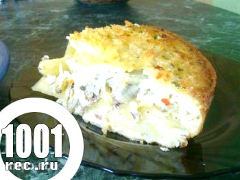 Пиріг зі щукою і рисом