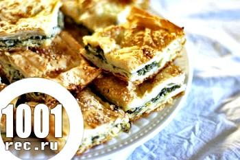 Пиріг зі шпинатом і грибами