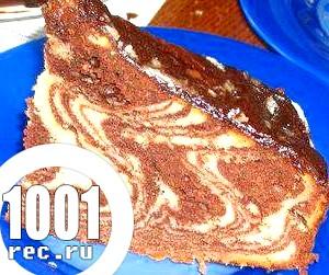 Пиріг Зебра або торт «Зебра» без крему