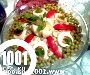 Проста прикраса салату Олів'є від Ангеліни Худяевой