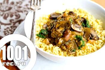 Фото - Рецепт пшоняної каші з грибами