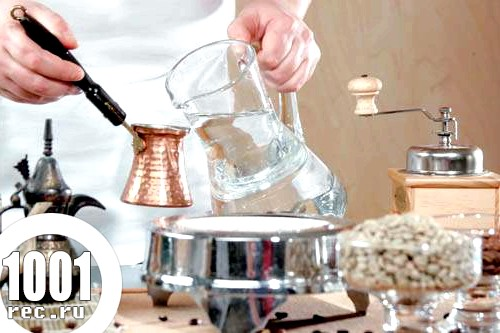 Рецепт кави мокко по-турецьки.