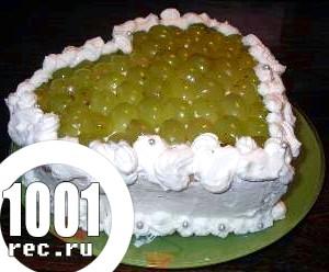 Рецепт сирного торта з виноградом без випічки
